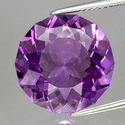 Certified Amethyst Natural Unheated Purple Amethyst, 9.41 CT, Fancy Cut, gorgeous design and clarity, VVS+,