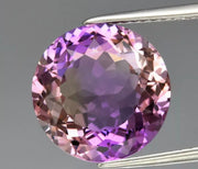 Flawless Bolivian Ametrine, 6.23ct 12mm Round Cut, Natural Untreated Yellow & Purple Color, Clean Gemstone. Reserved for Valerie till Dec 16