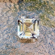 4.9 CT Morganite, Flawless, light peach color, Clean Asscher Cut Stone