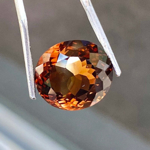 Certified 14.85 CT Topaz, Golden Brown, Flawless IF Clean, Oval Cut Gemstone