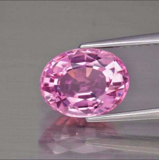 2.42 Ct Pink Tourmaline, VVS Clean, Oval, Perfectly Cut Baby Pink color Gemstone.