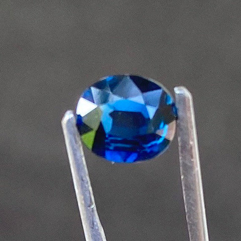 1.26 CT Certified Sapphire, VVS Clean, Deep Blue Color, Heated, Oval Cut perfect for a ring setting.