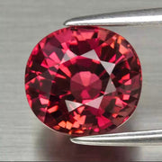 2.92 CT Tourmaline, Orange Pink Color, VVS Clean, Oval Shape Gemstone