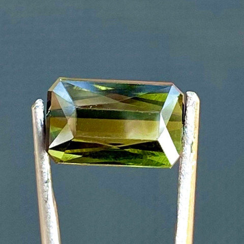 3.82 CT Tourmaline, VVS, Yellow Green Color, Scissor Cut Gemstone