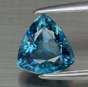 1.02 CT Sapphire, VS Eye Clean, Greenish Blue Color, Heated Only, Trillion Cut Gemstone.