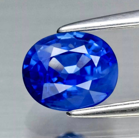 1.17 CT, Blue Sapphire, VVS Clean, Heated only, Superior color - luster, Oval Cut Gemstone from Ceylon