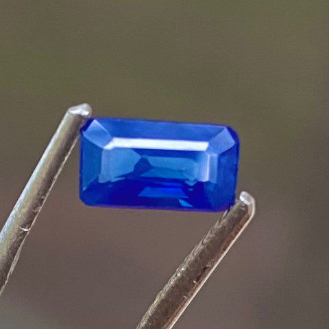 1.20 CT, Blue Sapphire, VS Eye Clean, Octagon Cut Gemstone