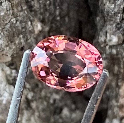 Hot! 2.31CT Tourmaline, VVS Clean, Orange Pink Color, Oval Cut Gemstone