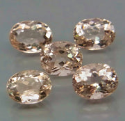 6.84 CT Morganite, Orange Pink Color, VVS & IF Clean, Oval Cut Gemstones from Brazil