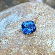 Hot! 1.63 CT Sapphire, Certified Unheated Cornflower Blue, Cushion Cut, VVS Eye Clean Gemstone.