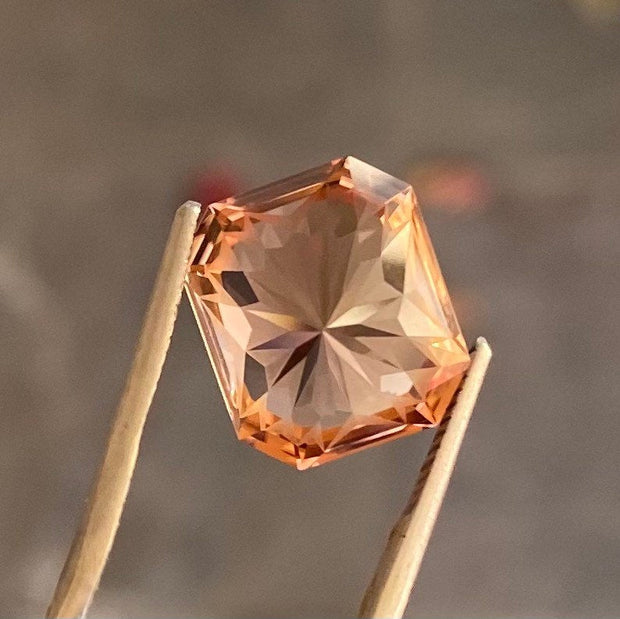 Hot! 9.97 CT Tourmaline, Orange Color, Certified, Octagon Cut, Flawless Clean Gemstone perfect for a Ring or Pendant Setting.
