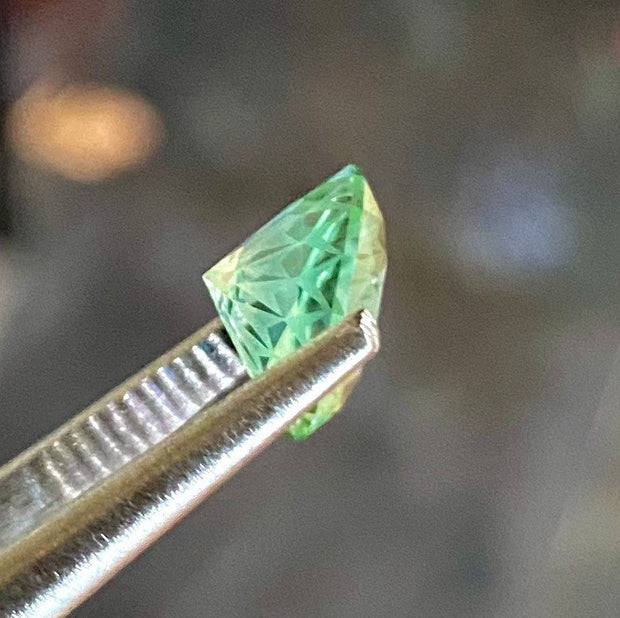 3.02 CT Green Tourmaline, Flawless Clarity, Certified Round Cut Gemstone