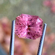4 CT Pink Tourmaline, Certified, Flawless Clarity, Octagon Cut Gemstone