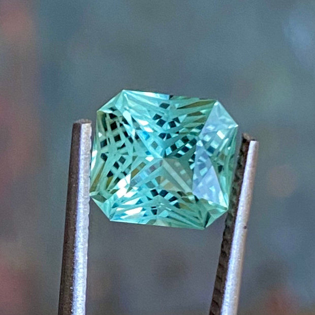 2.79 CT Green Tourmaline, Certified, Flawless Clarity, Octagon Cut Gemstone