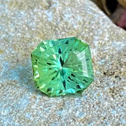 5.15 CT Tourmaline, Green Color, VVS Clean, Fancy Octagon Cut Gemstone