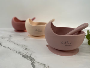 Willow Dreamer Silicone Suction Bowl + Spoon