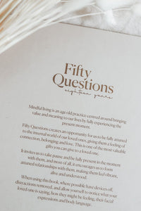 Baby Keepsake book - Fifty Questions