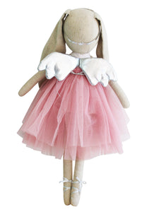 Estelle Linen Angel Bunny 50cm Blush