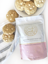 Load image into Gallery viewer, White Choc and Macadamia Nut Lactation Cookie Packet Mix