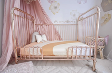 Load image into Gallery viewer, PEACH RAINBOW COT SHEET