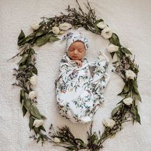 Load image into Gallery viewer, Eucalypt | Baby Jersey Wrap & Beanie Set