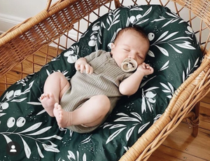 OLIVE TREE BRANCH - Bassinet/Change Mat Cover