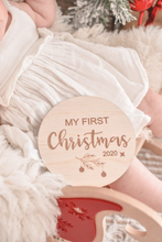 Load image into Gallery viewer, My First Christmas Plaque