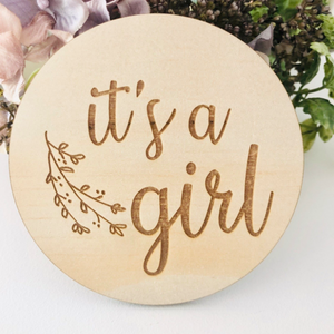 It's a Girl Botanical Disc