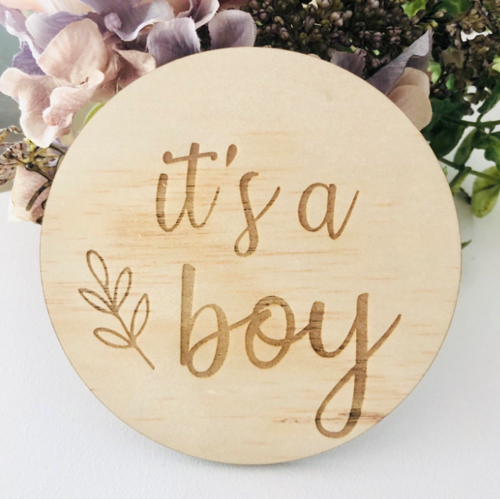 It's a boy Botanical Disc