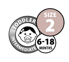 Load image into Gallery viewer, BIBS Dummies Size 2 - Peach Double Pack
