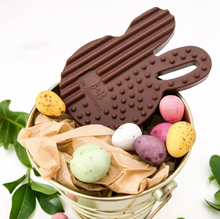 Load image into Gallery viewer, Easter Edition CHOCOLATE BUNNY Silicone Teething Disc