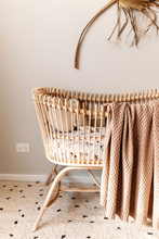 Load image into Gallery viewer, Hazelnut | Diamond Knit Baby Blanket
