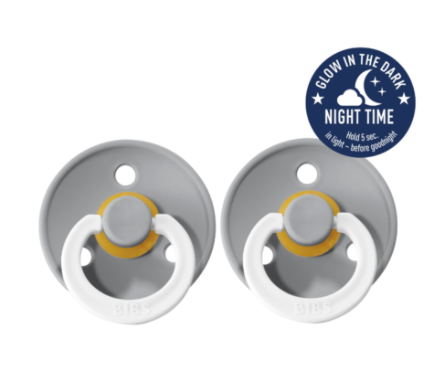 BIBS Dummies Size 2 - Cloud Night Glow Double Pack