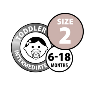 BIBS Dummies Size 2 - Blush Night Glow Double Pack