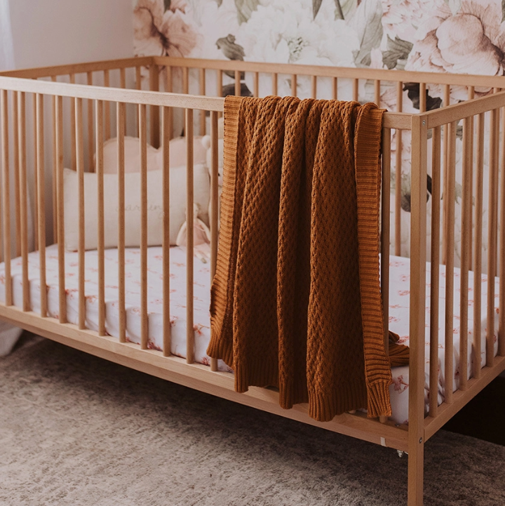Bronze | Diamond Knit Baby Blanket