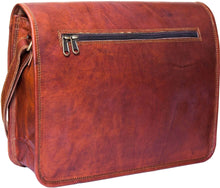Laden Sie das Bild in den Galerie-Viewer, URBAN LEATHER SHOULDER MESSENGER BAG FOR MEN, 15 INCHES