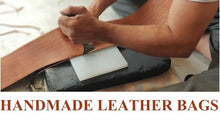 Load image into Gallery viewer, URBAN LEATHER SHOULDER MESSENGER BAG FOR MEN, 15 INCHES