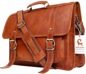 URBAN LEATHER Laptop Shoulder Messenger Bags for Men Office University Work Satchel Bag