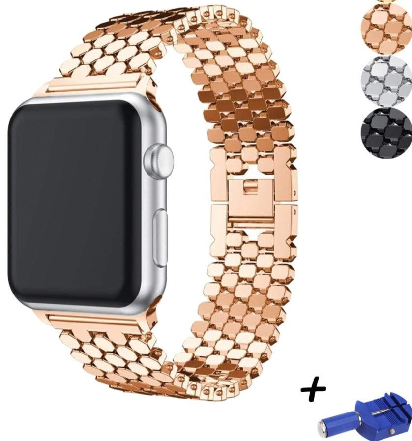 gold/silver/black/rose gold  Stainless Steel Replacement Strap For Apple Watch
