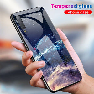 Luxury Tempered Glass  Mobile Phone Case For Samsung Galaxy