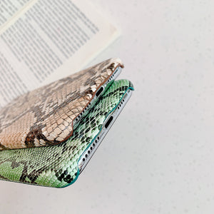 Snake Skin PU Leather Cases For iPhone