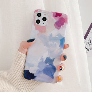Matte  Watercolor painting phone Case for iPhone