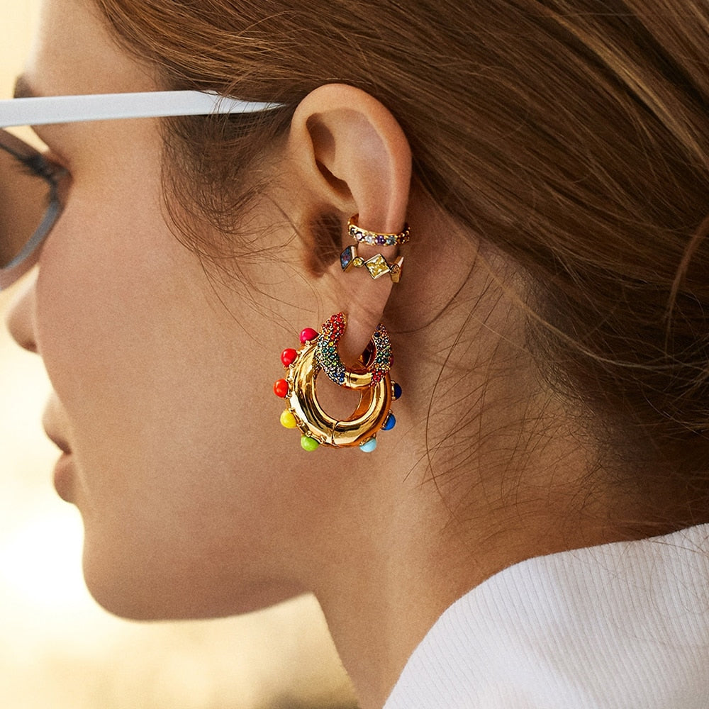 Trendy Colourful Rainbow Earrings
