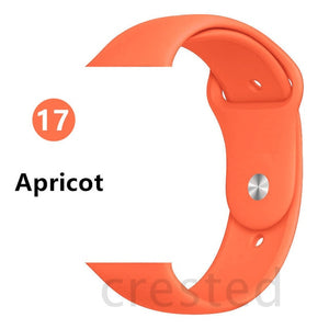 Silicone  strap Apple watch band