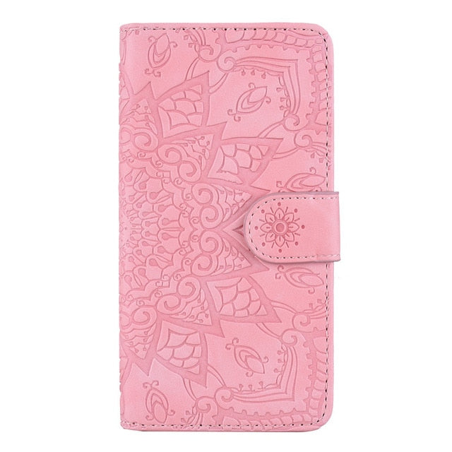 Matte Leather Flip Mobile Phone Case For Samsung Galaxy