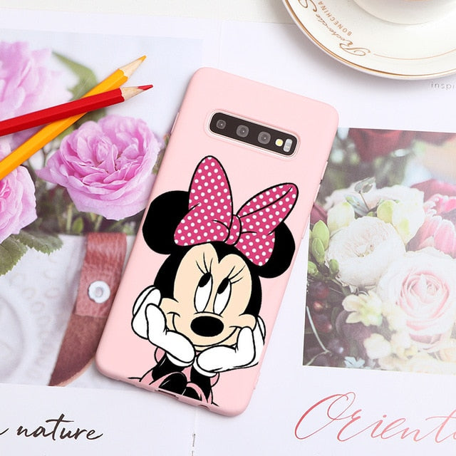 Mini Mouse Soft Mobile Phone  Cover For Samsung galaxy