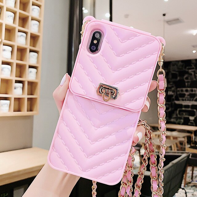 Shoulder Bag Soft Silicone Phone Case For iPhone