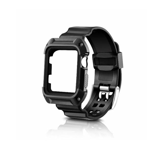 Stylish Look Shock and Pump Resistant Protect Case Combined With Strap For Apple Watch