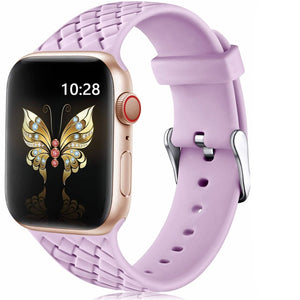 Woven Pattern silicone Strap for Apple Watch