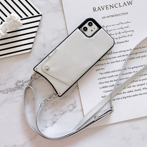 Cross body Leather Mobile Phone Case  For iPhone